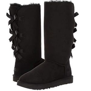 🆕 Authentic UGG black bailey bow tall boots- 7